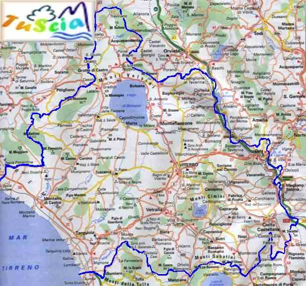 Cartina Geografica Di Viterbo E Provincia.Tutti I Comuni Della Tuscia I Comuni Della Provincia Di Viterbo